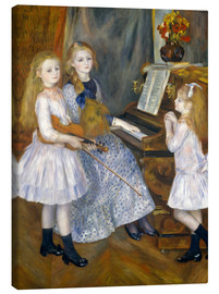 Lienzo  The Daughters of Catulle Mendès - Pierre-Auguste Renoir
