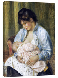 Lienzo  A Woman Nursing a Child - Pierre-Auguste Renoir