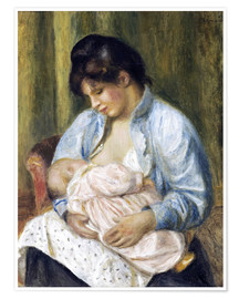 Póster A Woman Nursing a Child
