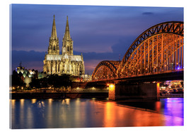 Cuadro de metacrilato  Cologne Cathedral and Hohenzollern Bridge at night - Oliver Henze
