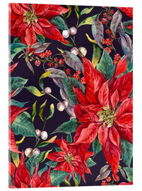 Metacrilato  Christmas floral pattern