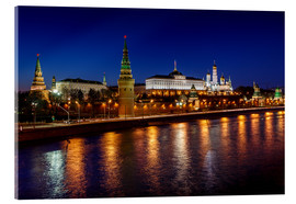 Cuadro de metacrilato  Moscow Kremlin and Vodovzvodnaya tower at night