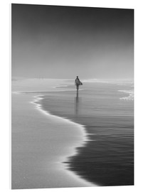 Cuadro de PVC  Lone surfer at the beach - Alex Saberi