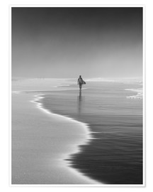 Alex Saberi - Lone surfer at the beach