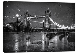 Lienzo  Tower Bridge Tears London - Alex Saberi
