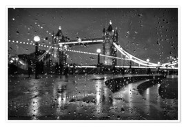Póster  Tower Bridge Tears London - Alex Saberi