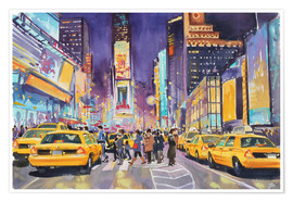 Póster  Times Square at night - Paul Simmons