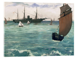 Cuadro de metacrilato  The Kearsarge at Boulogne - Edouard Manet