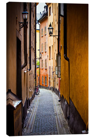 Lienzo  Alley in Stockholm