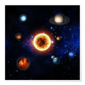 Póster  Our sun and planets