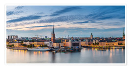 Póster  Stockholm evening panorama