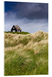 Cuadro de metacrilato  Cottage in the dunes during storm