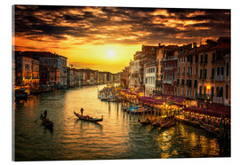 Metacrilato  Grand Canal at sunset