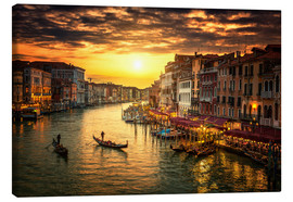 Lienzo  Grand Canal at sunset
