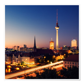 Póster Berlin Skyline