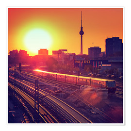 Póster Berlin - Sunset Skyline