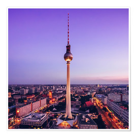Póster Berlin - TV Tower Skyline