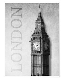 Póster  London - Big Ben - Alex Saberi