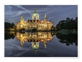 Póster Neues Rathaus - Hannover, Germany