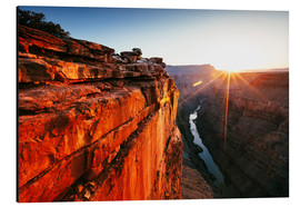 Cuadro de aluminio  Beautiful sunrise on Grand Canyon and river Colorado, USA - Matteo Colombo