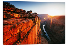 Lienzo  Beautiful sunrise on Grand Canyon and river Colorado, USA - Matteo Colombo
