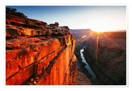Póster  Beautiful sunrise on Grand Canyon and river Colorado, USA - Matteo Colombo