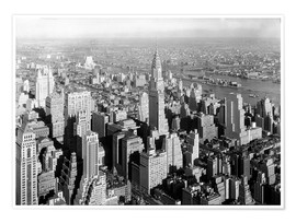 Póster New York City 1932, Midtown Skyline