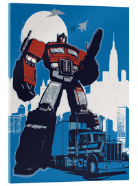 Cuadro de metacrilato  alternative optimus prime retro transformers art - 2ToastDesign