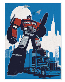 Póster  alternative optimus prime retro transformers art - 2ToastDesign
