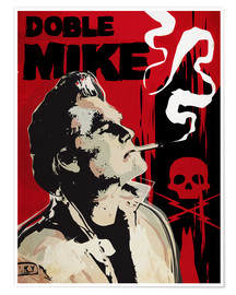 Póster alternative doble mike death proof art print
