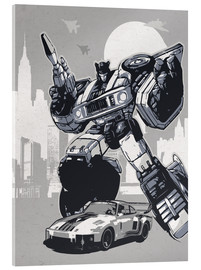 Cuadro de metacrilato  alternative jazz retro transformers art print - 2ToastDesign