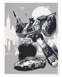 Póster  alternative jazz retro transformers art print - 2ToastDesign