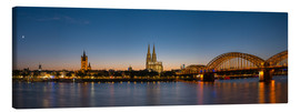 Lienzo  Cologne at sunset panorama - rclassen