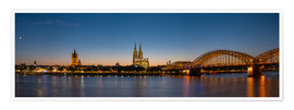 Póster  Cologne at sunset panorama - rclassen