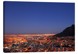 Lienzo  Cape Town at night, South Africa - wiw