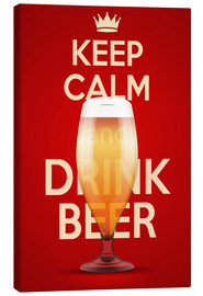 Lienzo  Keep Calm And Drink Beer