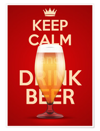 Póster  Keep Calm And Drink Beer