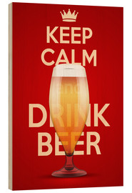 Cuadro de madera  Keep Calm And Drink Beer