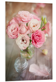 Forex  Romantic rose bouquet with feather