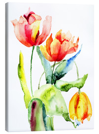 Lienzo  Three Tulips