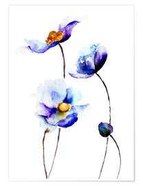 Póster Flores azules