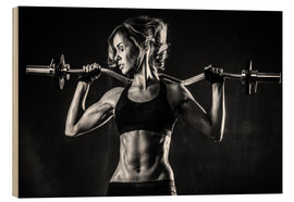 Madera  Sportswoman with a barbell