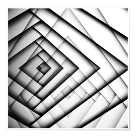 Póster  Mirrored Triangles