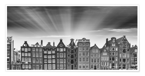 Póster Amsterdam classic buildings