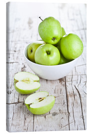 Lienzo  Green apples in a bowl