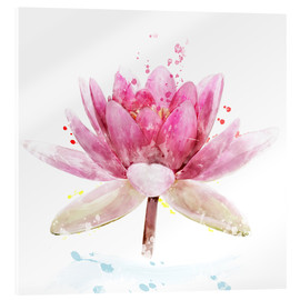 Cuadro de metacrilato  Pink Waterlily Flower