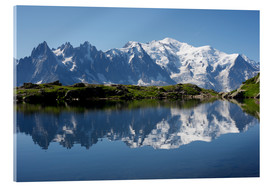 Metacrilato  Lake with Mont Blanc massif