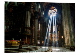Metacrilato  Beams of Light inside Milan Cathedral