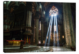 Lienzo  Beams of Light inside Milan Cathedral