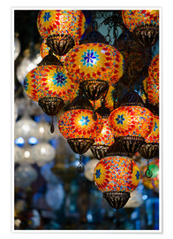 Póster Mosaic lanterns in Istanbul